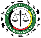 Bay Mills tribal court logo with clan sy