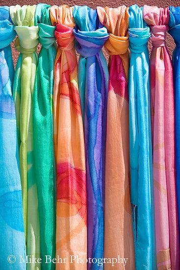 Nine Silk Scarves