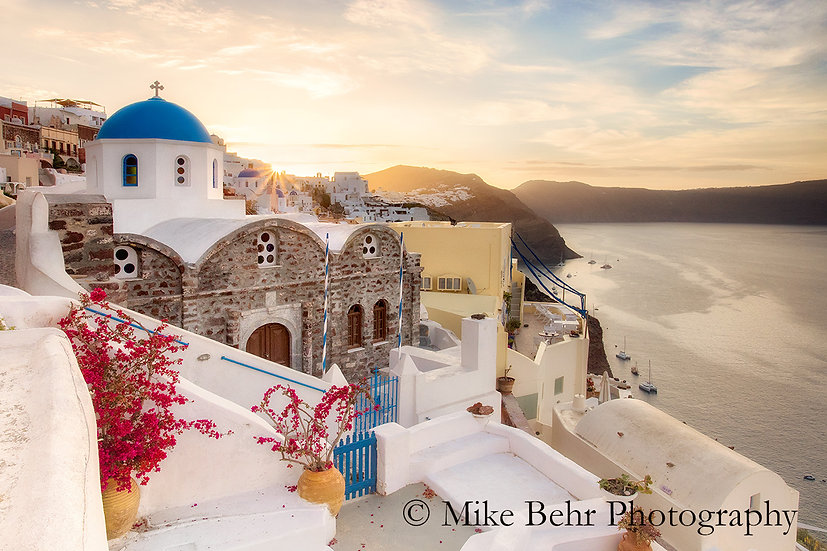 Sunrise Over Santorini