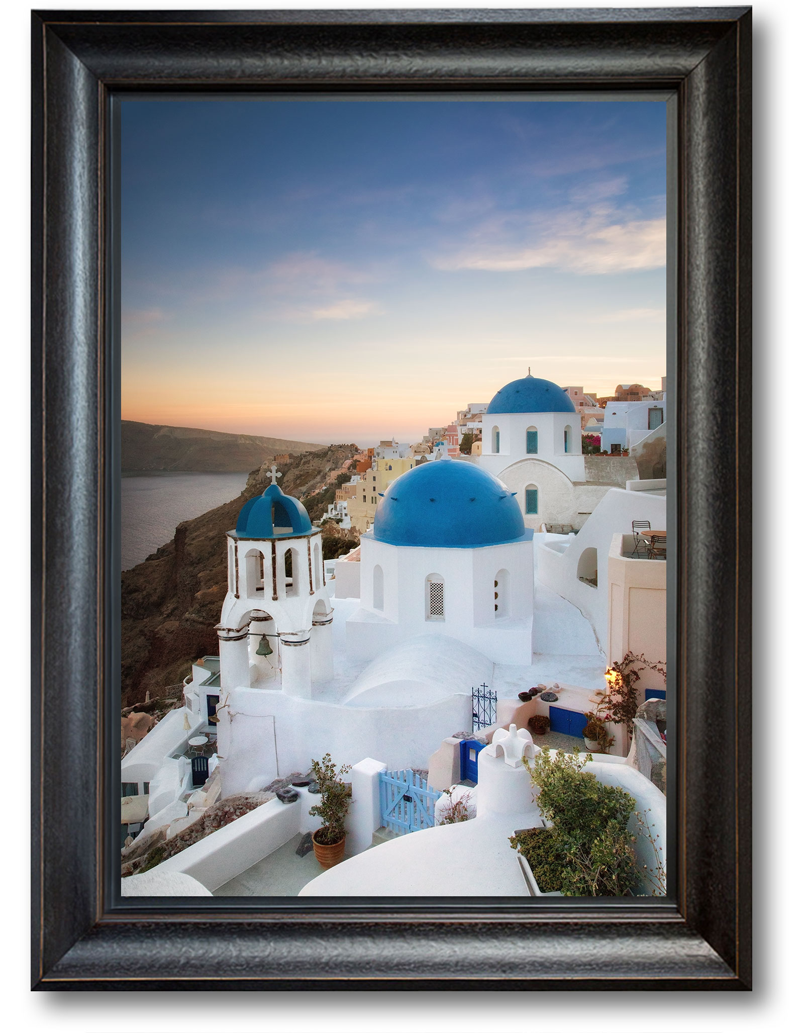 Sunset-Over-Oia-BlackFrame-WEB