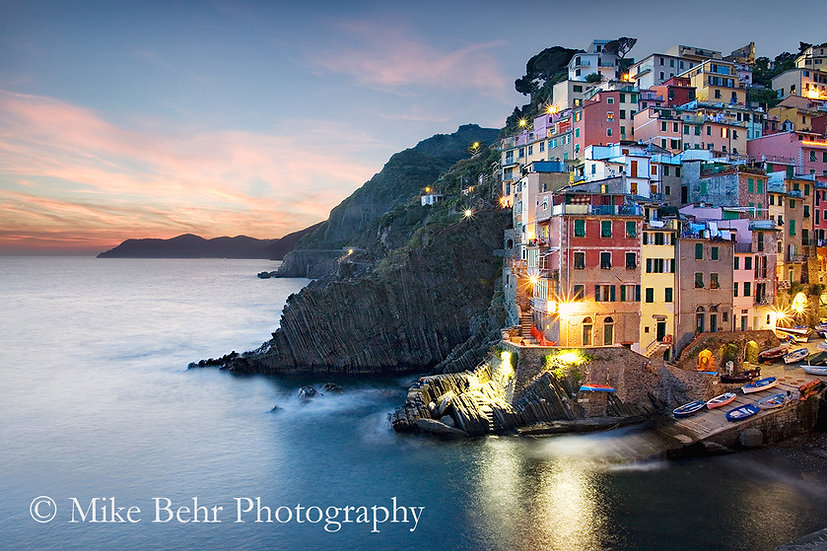 Sunset on the Cinque Terre