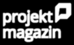 Projektmagazin Logo negativ