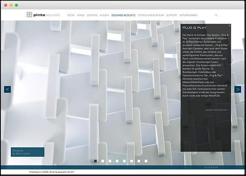 pinta acoustic website designed acoustic