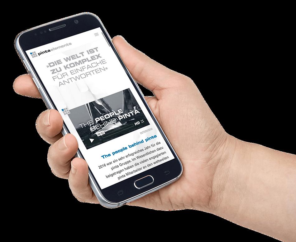 pinta elements website responive ansicht