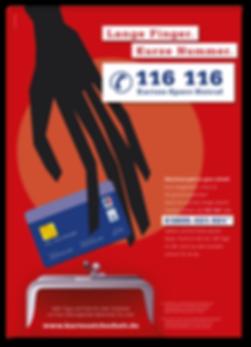 Lange Finger kurze Nummer EKS Sperrnotruf Kampagne