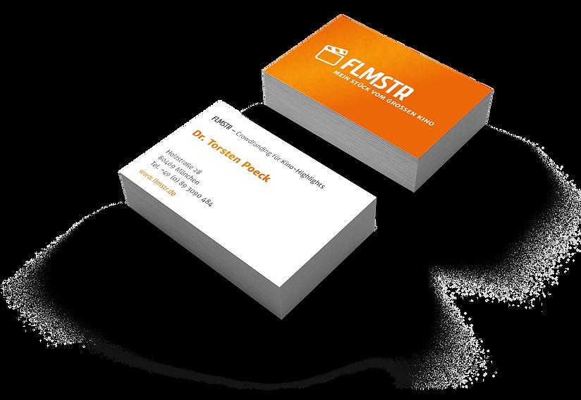 flmstr Visitenkarten Corporate Design