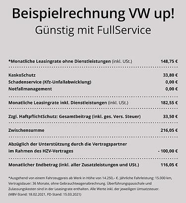 VWup! leasen