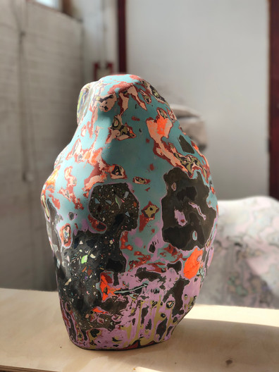 Said the Potato to the Rock 54 x 36 x 30 cm Pigmented Plaster