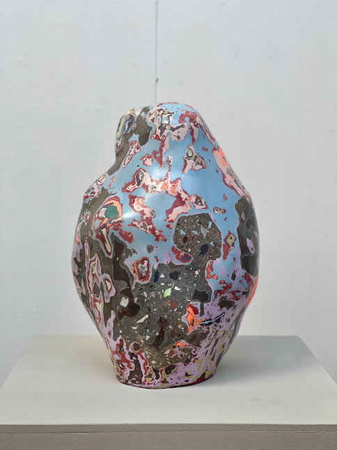 Said the Potatoe tot the Rock 54 x 36 x 30 cm Pigmented plaster