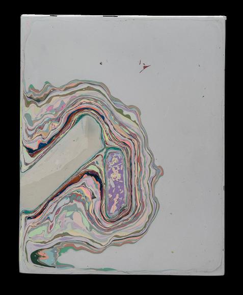 Fragment of Lake Hope 25 x 20 cm Pigmented plaster