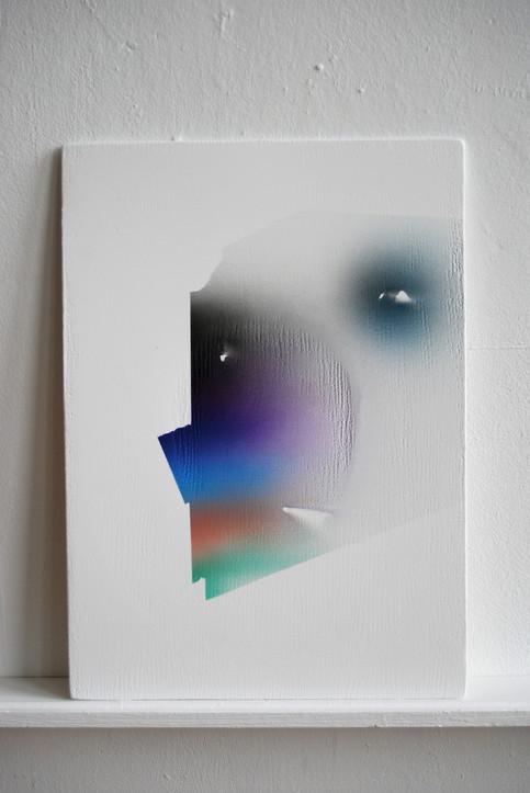 Surface Morphologies (The interpretation of Studio Remains) no.2 42 x 30 cm acrylic on wood