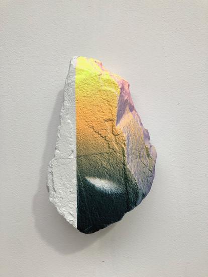Digital Spirit no.4 30 x 20 x 10 cm paint on rock Private collection