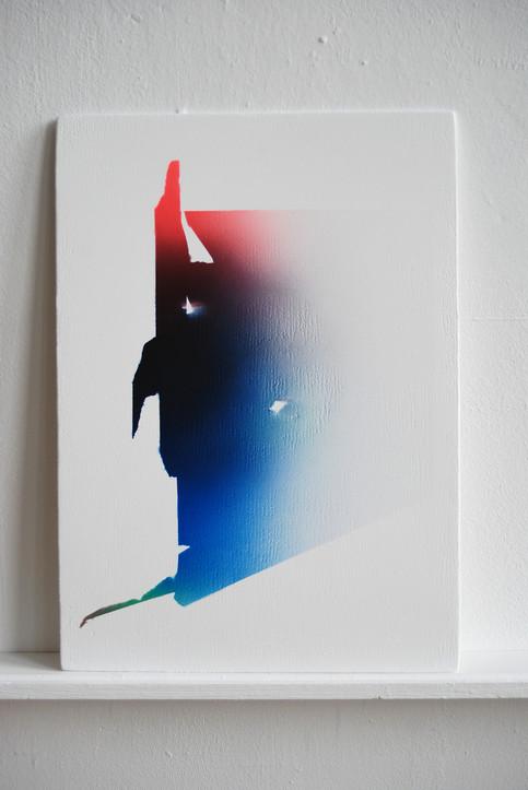 Surface Morphologies (The interpretation of Studio Remains) no.4 42 x 30 cm acrylic on wood
