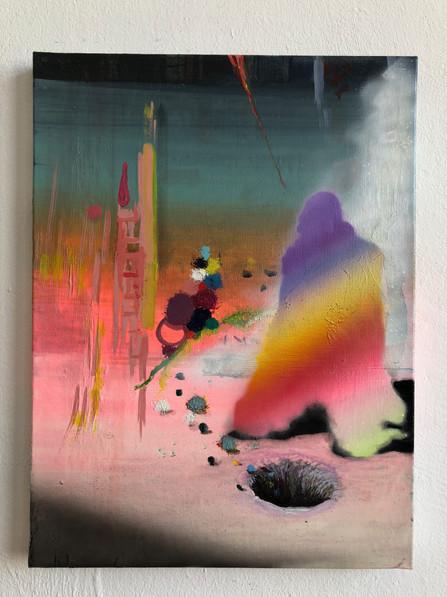 The Model for Economic Behaviour 40 x 30 cm mixed paint on canvas