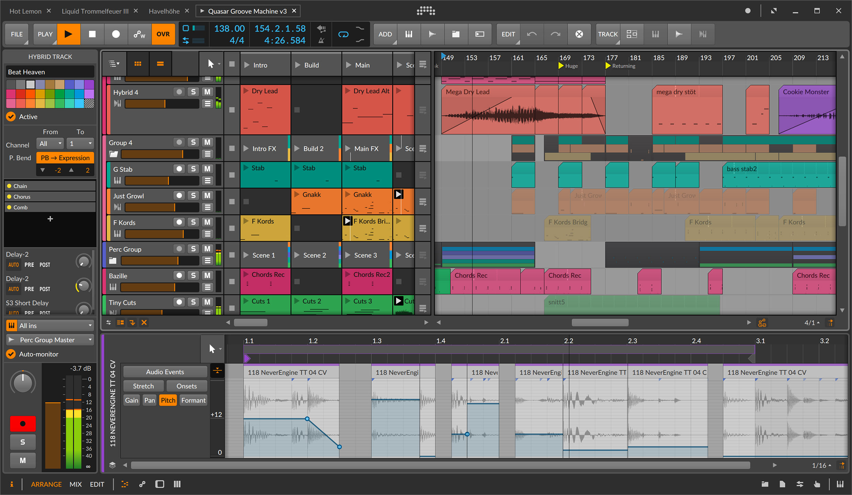 Bitwig Studio since V1 ca 2014
