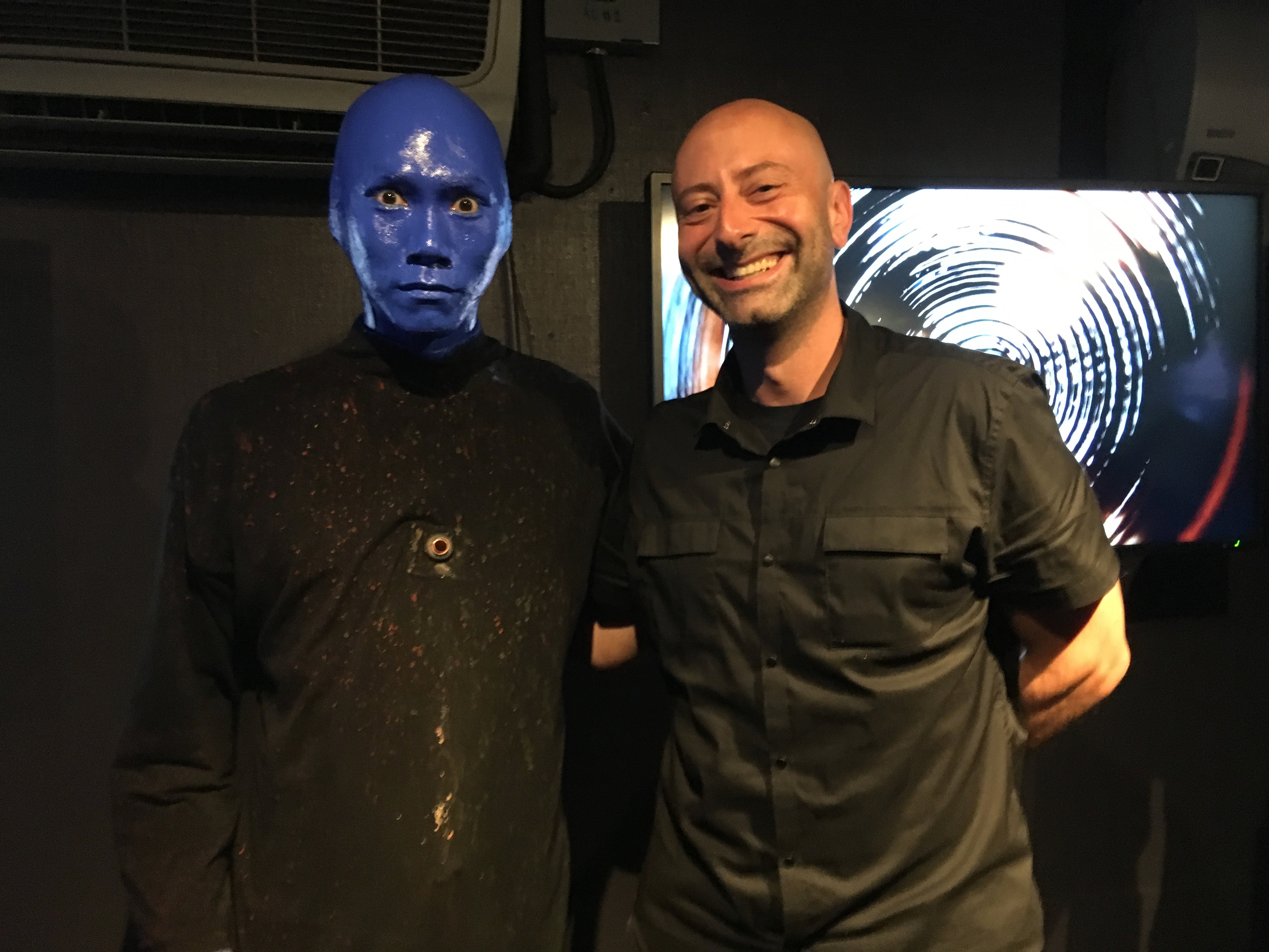 Me with a Blue Man