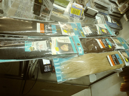 6 pack of 100% Straight Human Hair