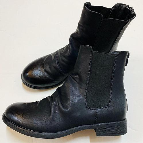 נעלי עור צבע שחור