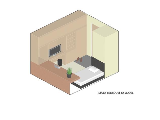 Religious Studies Centre - Student Accommodation Bedroom Study