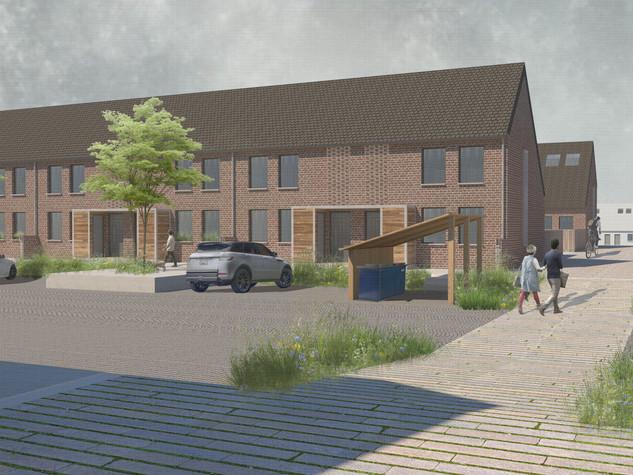 Durieshill Masterplan - Planar Dwelling Streetscape