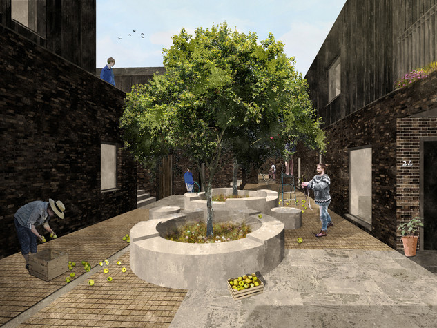 Reforming Multi-Storey Living - Residential Courtyard