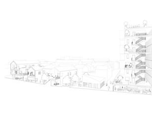 Reforming Multi-Storey Living - Perspective Section