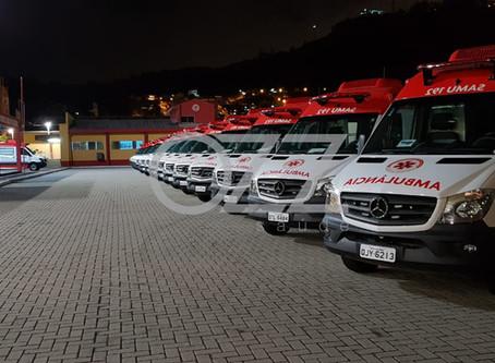 SAMU de Santa Catarina recebe 18 novas ambulâncias