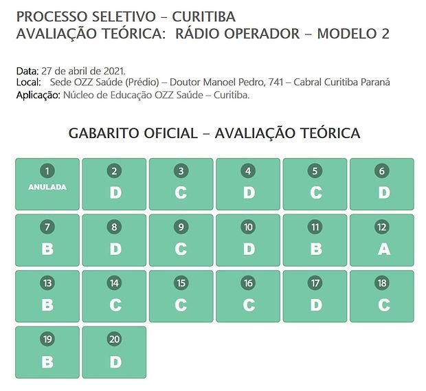 Gabarito Avaliação Teórica - Radio Opera