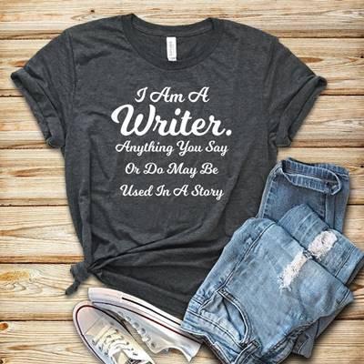 """I AM A WRITER"" TEE"