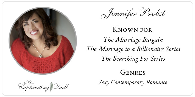 Author Jennifer Probst at The Captivating Quill