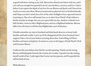 Letter From Hawk's Peak - November 10, 1883