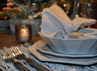 Winter Tablescape and Coconut Pound Cake