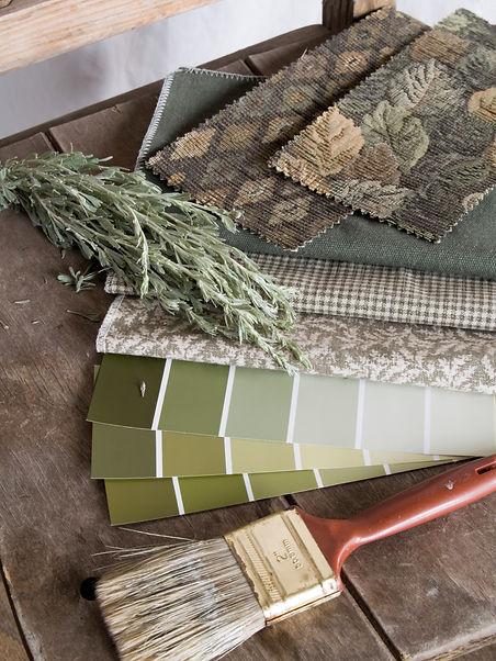 Earthy Green Interior Decoration Plan.jp