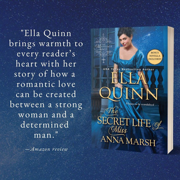 """""""Excellent"""" - The Secret Life of Miss Anna Marsh by Ella Quinn - Excerpt"""