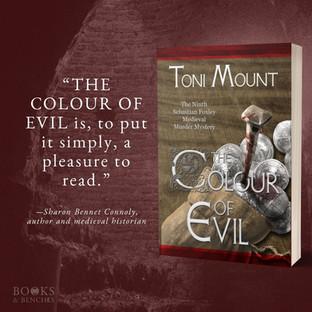 """Brilliant"" - THE COLOUR OF EVIL by Toni Mount - Excerpt"