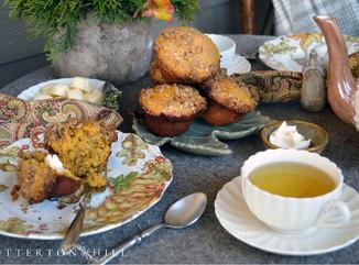 Autumn Tea and Pumpkin Muffins on the Porch