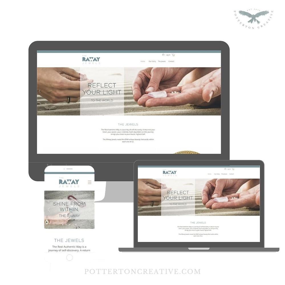The RAway Jewels - website design by Potterton Creative