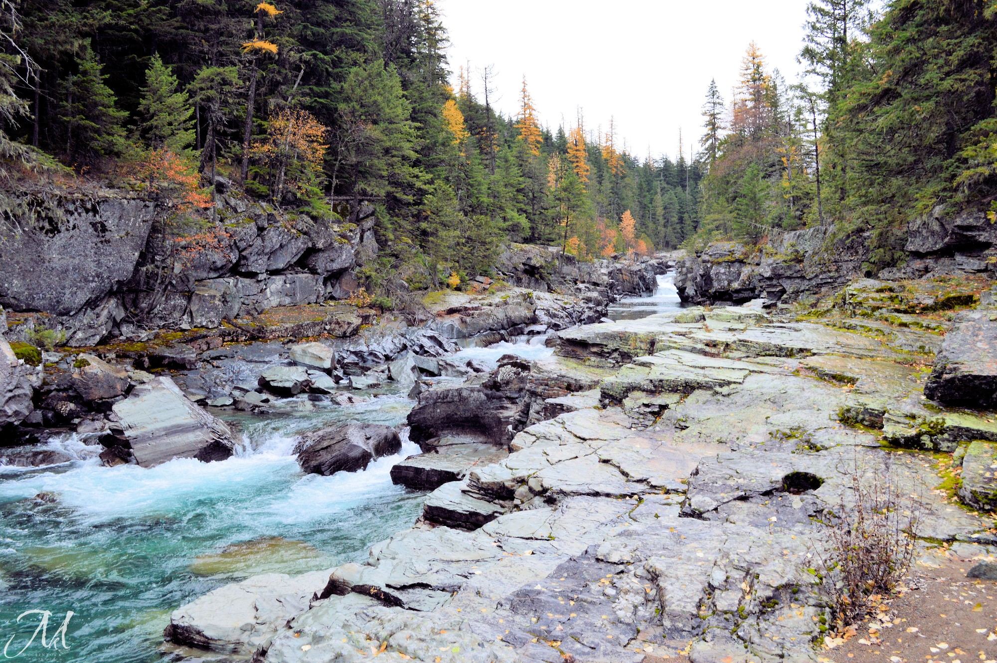 October Rain in Glacier National Park_MKMcClintock | #photography #GlacierPark #river #autumn
