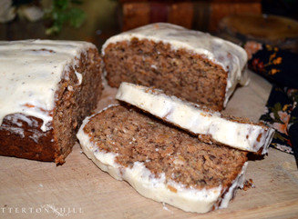 Spiced Apple Bread with Cream Cheese Glaze