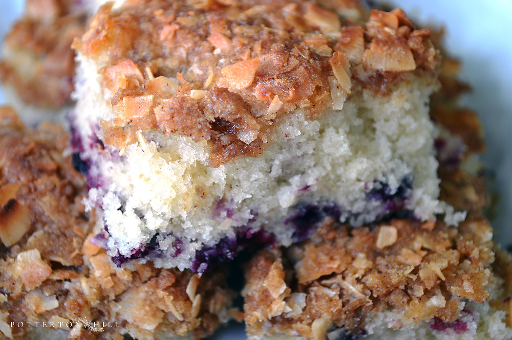 Huckleberry Coffee Cake and Afternoon Tea on the Porch_©PottertonHill.com #recipe #baking #afternoonteatea