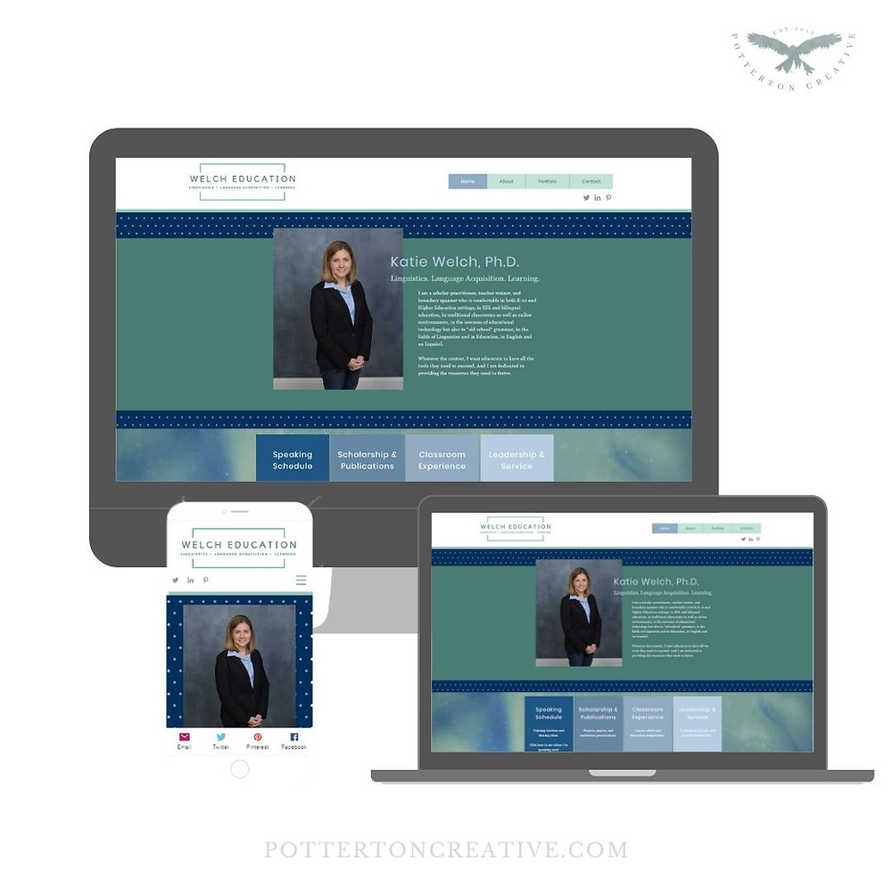 Welch Education - website updates by Potterton Creative