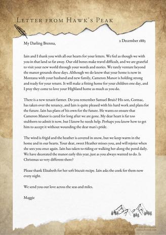 Letter From Hawk's Peak - December 2, 1883