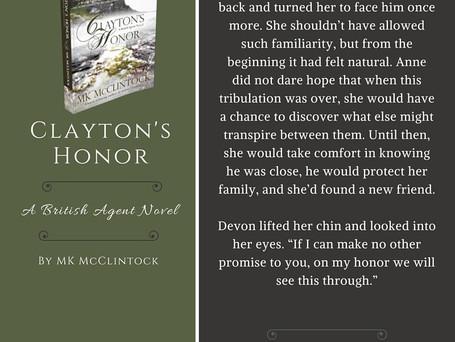 British Agent Novel Bits & Bobs: CLAYTON'S HONOR