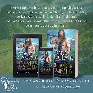 Highlander Besieged excerpt by Vonda Sinclair at The Captivating Quill