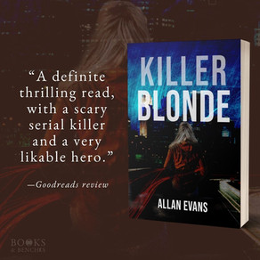 """Intriguing"" - KILLER BLONDE by Allan Evans - Interview"