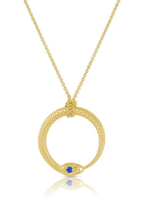 "OroBorus Pendant with 24"" Diamond Cut Cable Chain"