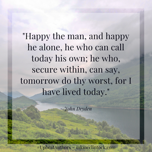 Happy The Man and Finding Joy ~ #UpbeatAuthors