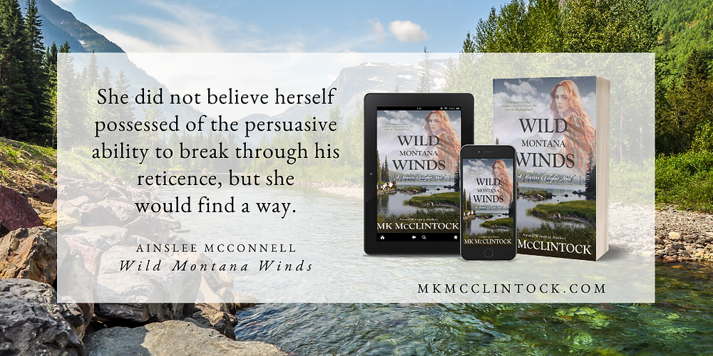 Wild Montana Winds by MK McClintock - historical western romance novel
