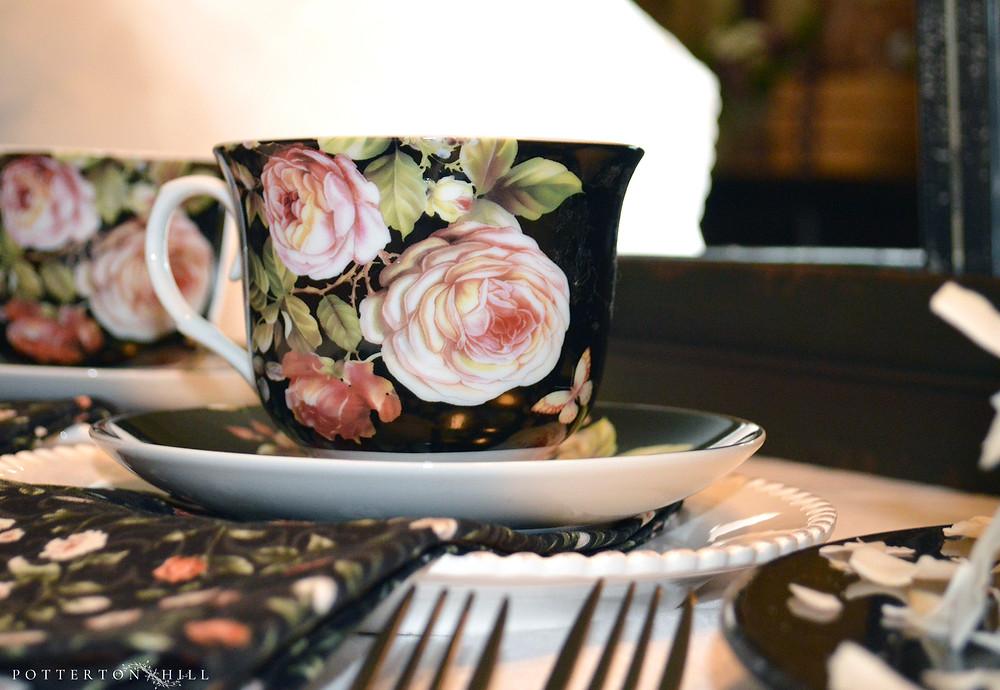 Black Rose Teacups ©PottertonHill