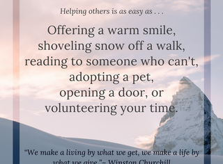 Helping Others ~ #UpbeatAuthors